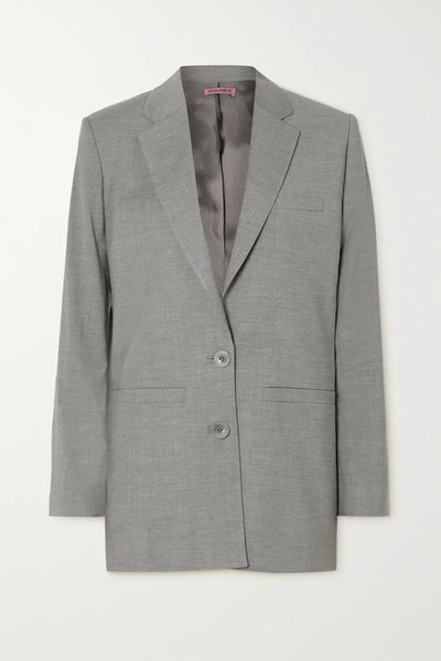 Saba cutout wool-blend blazer