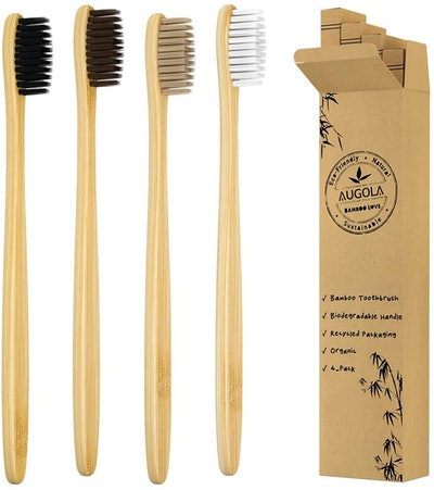 Bamboo Toothbrushes Pack of 4
