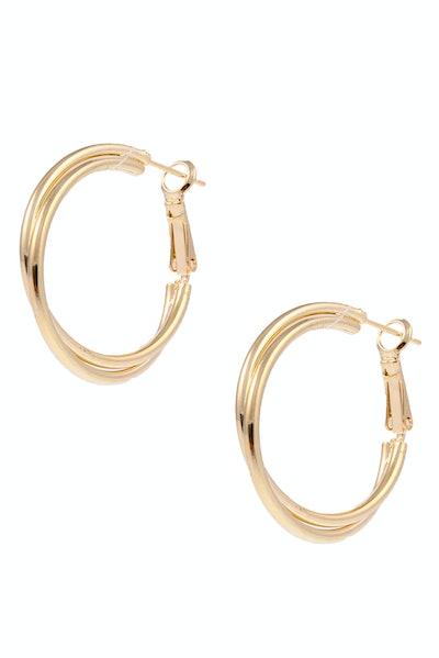 Rivah Gold Hoop Earrings