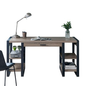Urban Industrial Wood Computer Desk