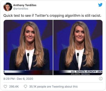 Twitter racist algorithm test
