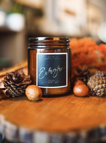 Evergreen Luxury Wooden Wick Candle