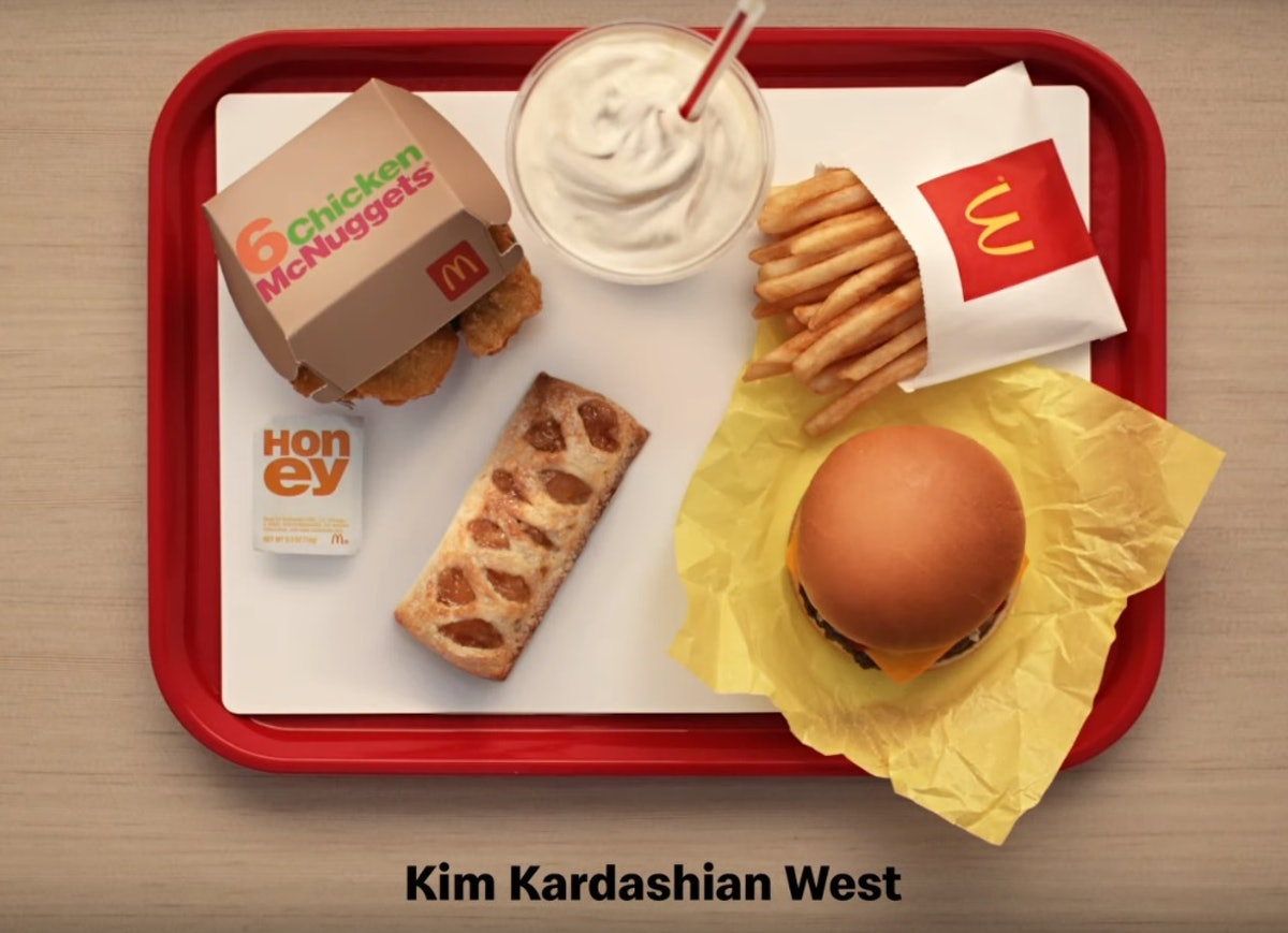 Kim Kardashian's McDonald's order includes a side of Honey, and Twitter is fighting now.