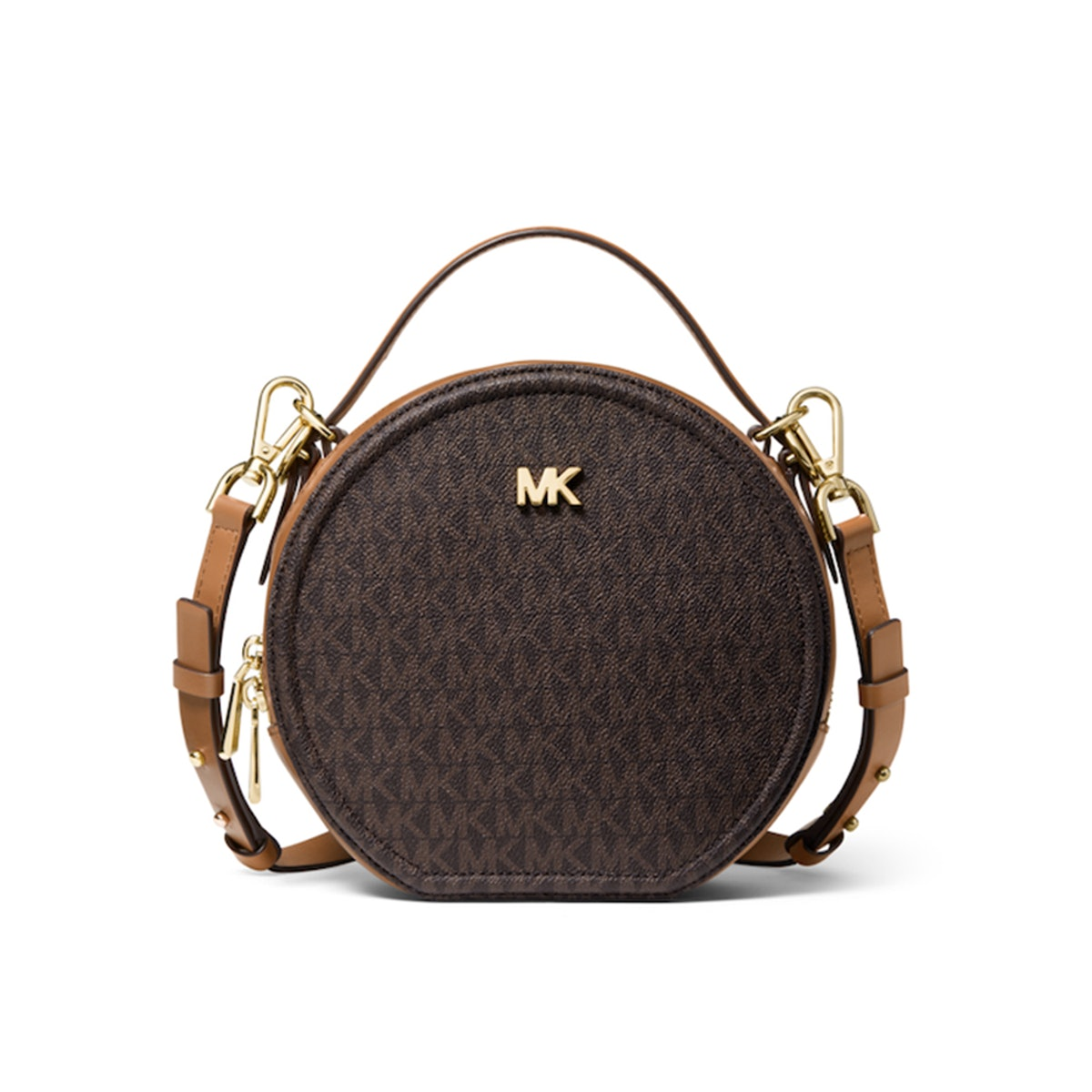 Delancey Medium Two-Tone Logo and Leather Canteen Crossbody Bag