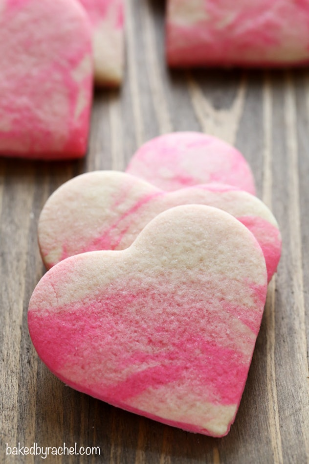 These Marbled Valentine Sugar Cookies are a gorgeous Valentine's Day Recipe that is totally Pinterest-Worthy.