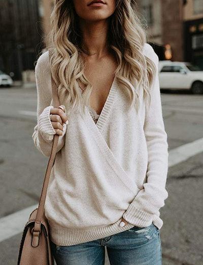 softome Deep V-neck Sweater