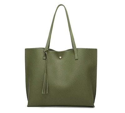 Dreubea Leather Tote Shoulder Bag