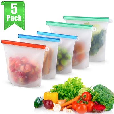 MOICO Reusable Silicone Storage Bags (5-pack)