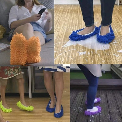 M-jump Duster Mop Slippers Shoes Cover  (8 PCS, 4 Pairs)