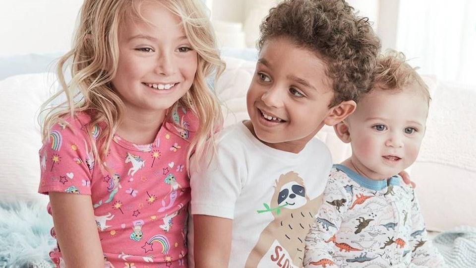 kids in carter's pajamas
