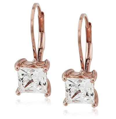 Amazon Collection Rose Gold Cubic Zirconia Earrings