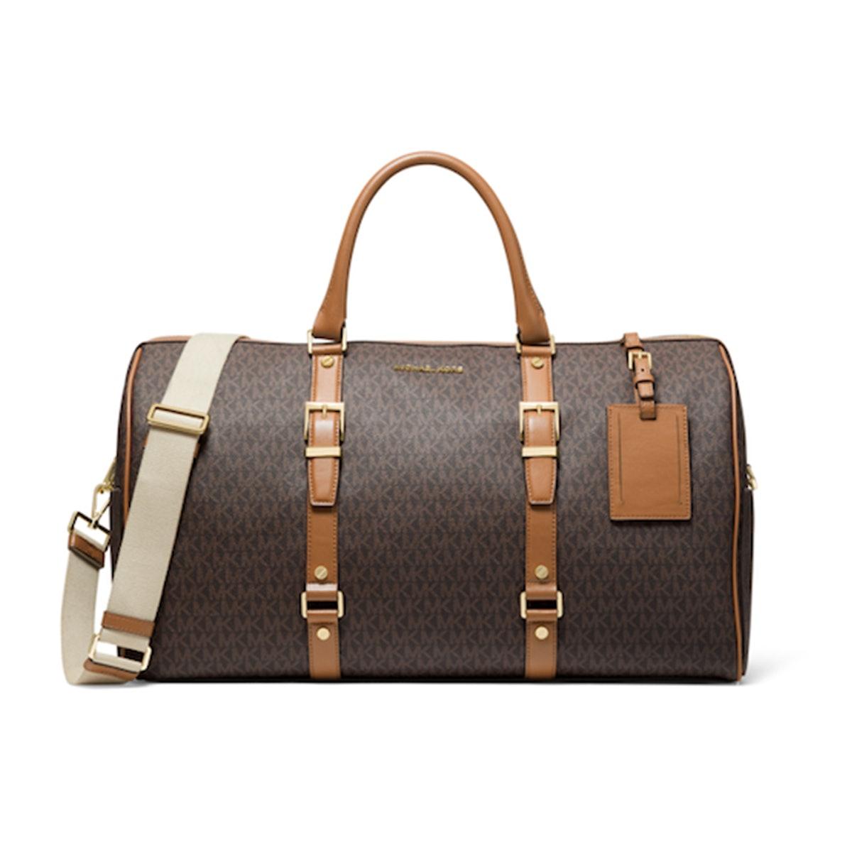 Bedford Travel Extra-Large Logo Stripe Weekender Bag