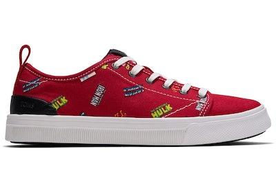 Red MARVEL Logos Print Women's TRVL LITE Low Sneakers
