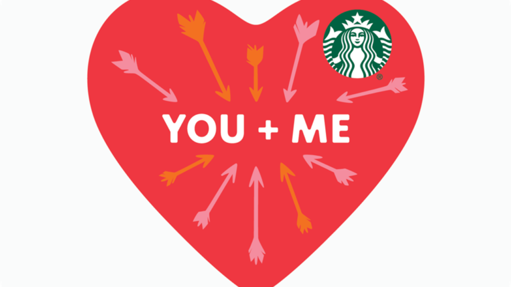 Starbucks' Valentine's Day 2020 Deal includes a BOGO deal.