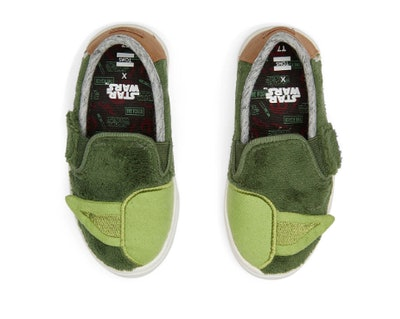 Star Wars Yoda Terry Cloth Tiny Toms Luca Slip-Ons