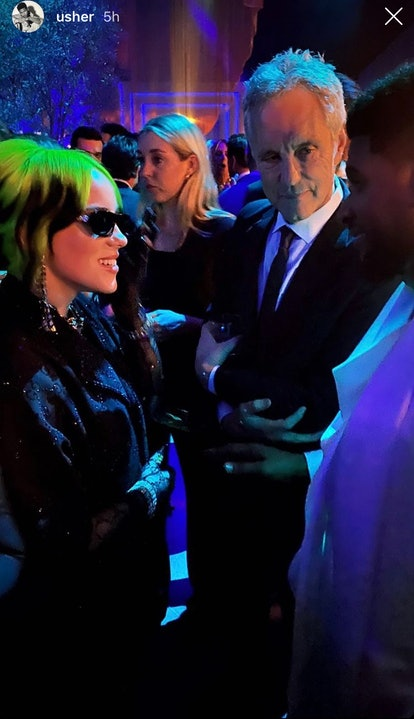 Usher and Billie Eilish, Oscars 2020 after-party