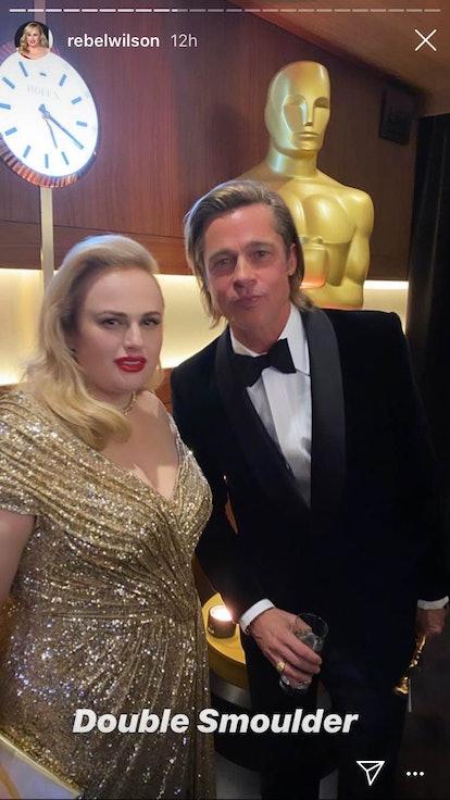 Rebel Wilson and Brad Pitt, 2020 Oscars