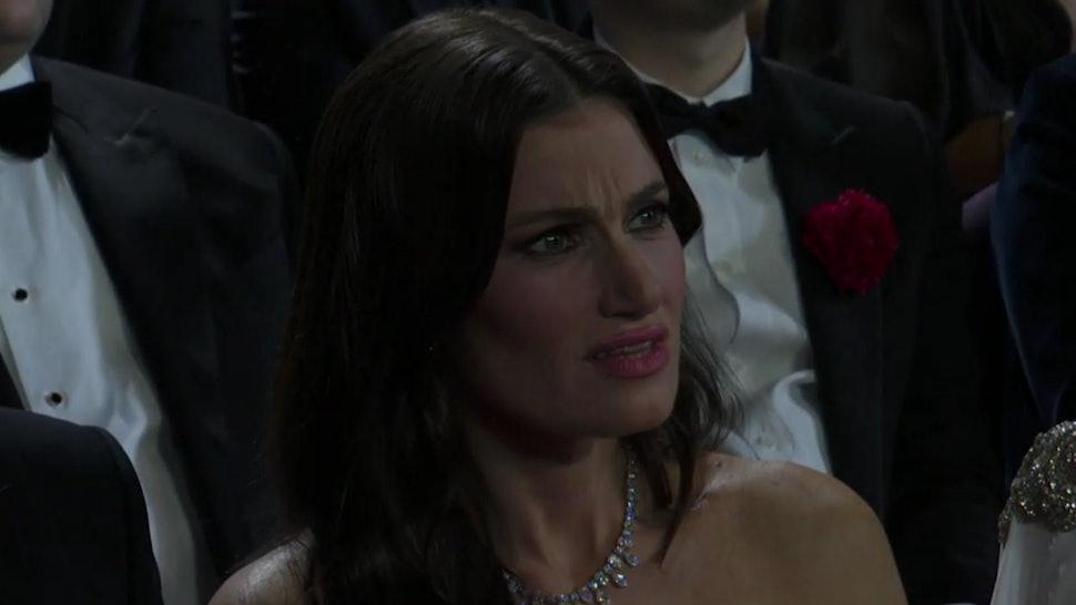 Idina Menzel reacting to Eminem's 2020 Oscars performance.