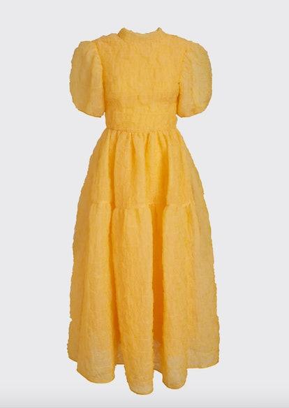 Puff-Sleeve Bow Dress