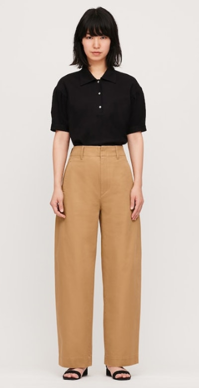 U Wide-Fit Curved Pants