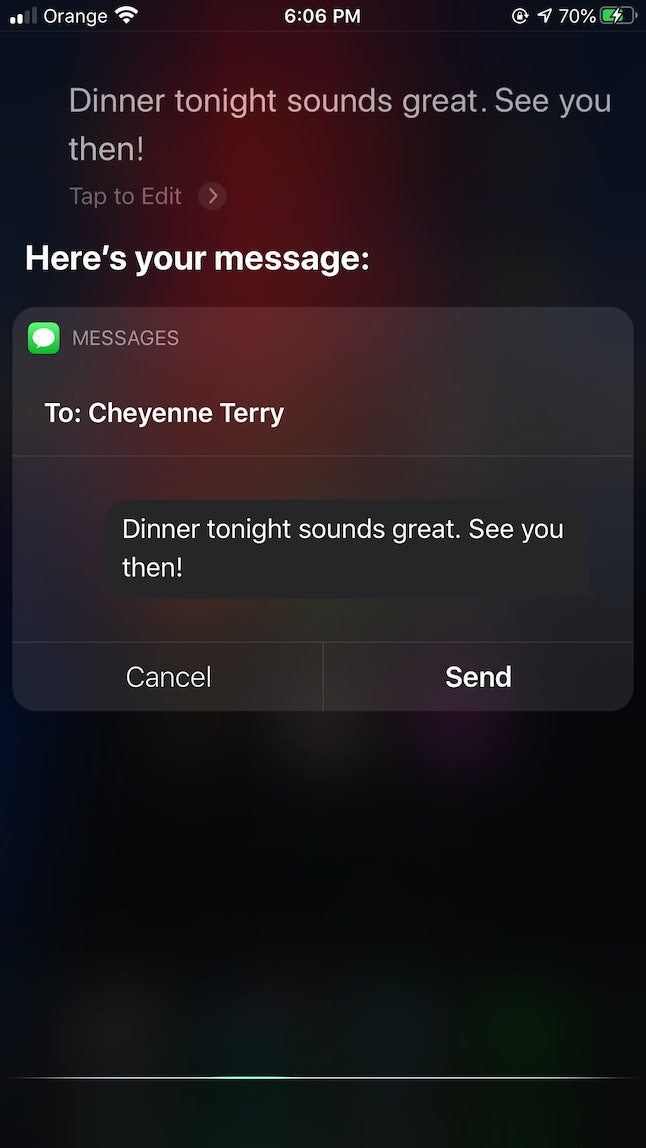 Use Siri to dictate text messages to send out to others.
