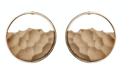 Embossed Hoop Earrings