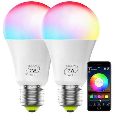 Magic Hue Color Changing Smart Light Bulb (2-Pack)