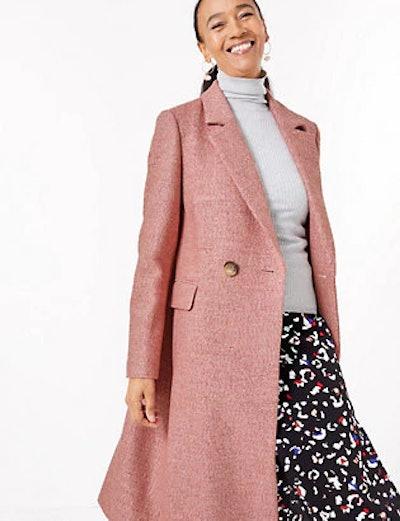 Wool Blend Longline City Coat