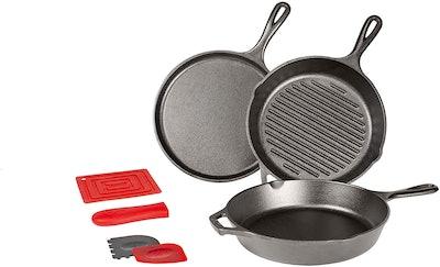 Lodge Essential 7-Piece Cast Iron Pan Set