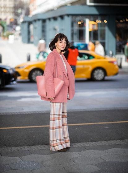 Pink Blazer Street Style