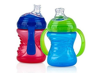 Nuby Two-Handle No-Spill Super Spout Grip N' Sip Cups (2-Pack)