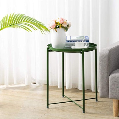 HollyHOME Tray Metal End Table
