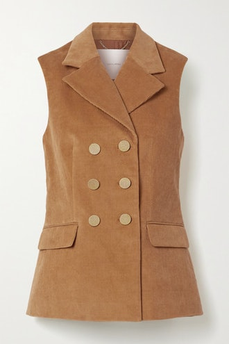 Double-Breasted Stretch-Cotton Corduroy Vest