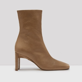 Ekatarina Tan Patent Leather Boots