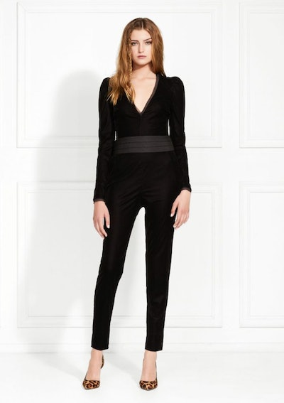 Rafaele Stretch Velvet Jumpsuit