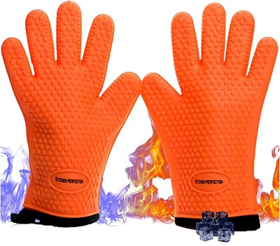 Kitchen perfection Silicone Smoker Oven Gloves (Set of 3)