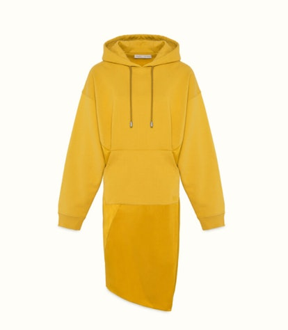 Duel-Fabric Hoodie Dress
