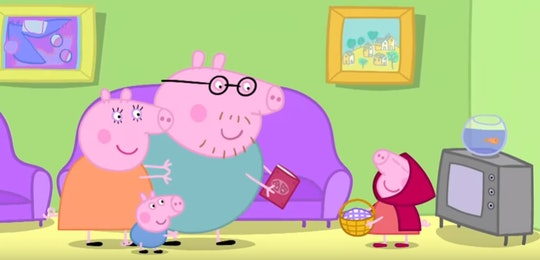 Peppa Pig celebrates Valentine's Day in her own special way.