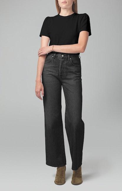 Flavie Trouser Jean In Fade To Black