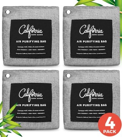 California Home Goods Bamboo Charcoal Air Purifying Bags (4-Pack)
