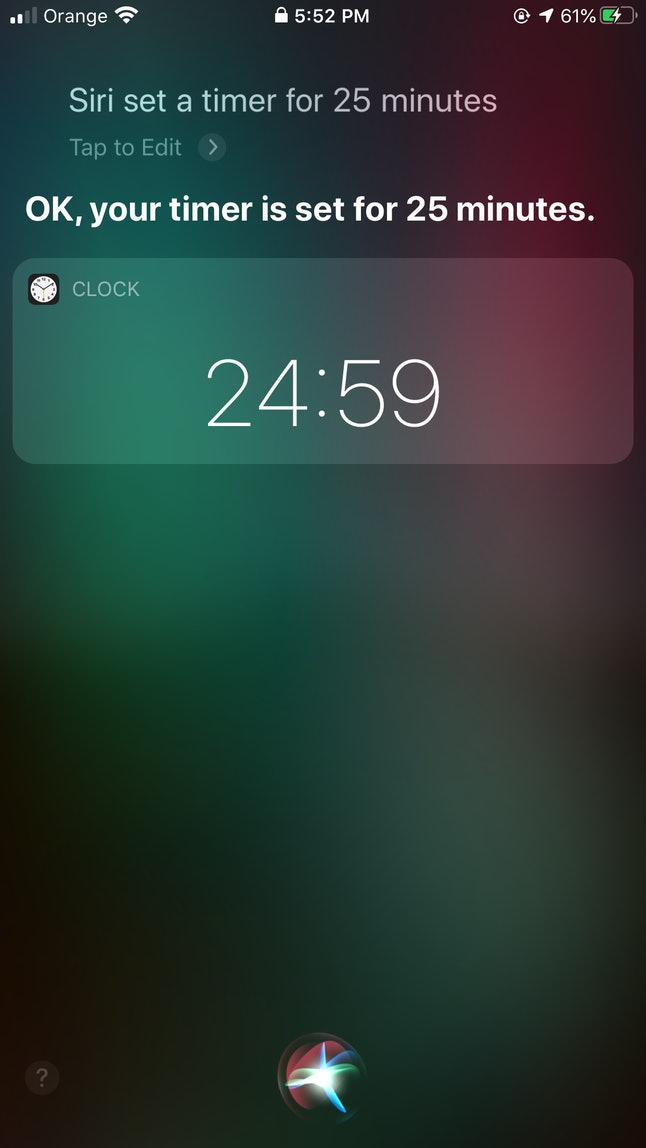Siri lets you set timers for different tasks just by using your voice.