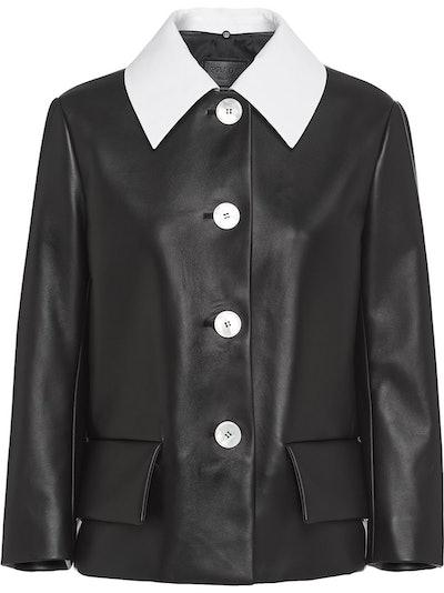 Detachable Contrasting Collar Jacket