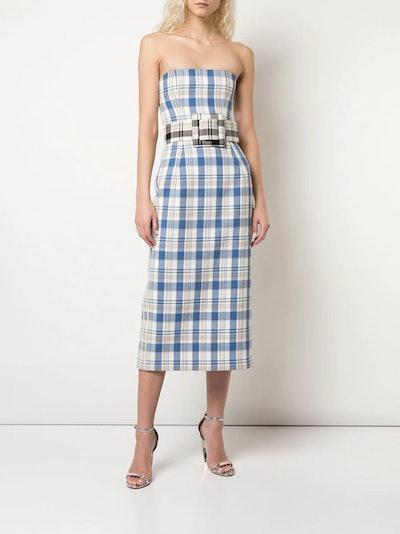 Plaid Print Sheath Dress