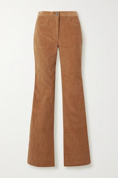 Stretch-Cotton Corduroy Flared Pants