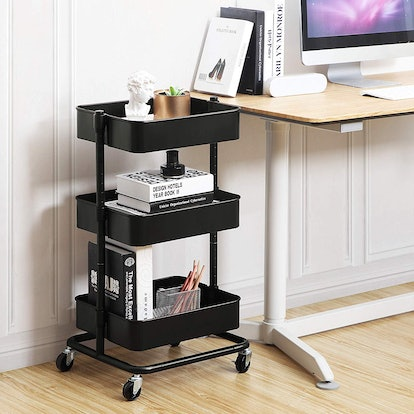 SONGMICS 3-Tier Metal Rolling Cart