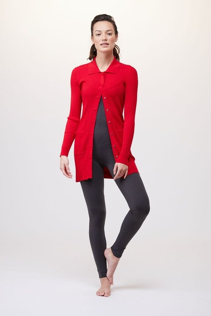 Knit Collared Cardigan