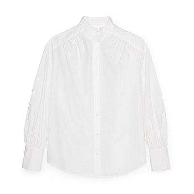 Relaxed Puff-Sleeve Shirt