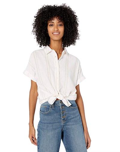 Goodthreads Women's Washed Cotton Short-Sleeve Shirt