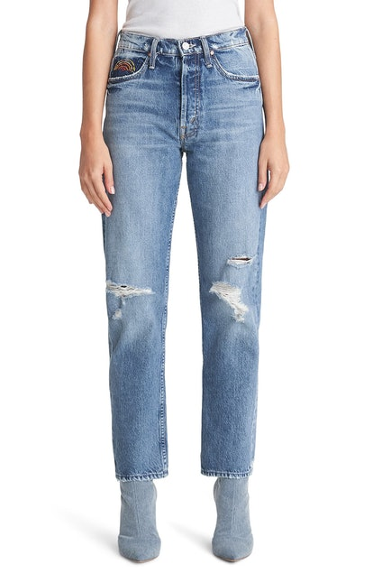 The Tomcat Ripped High Waist Ankle Jeans