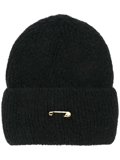 Safety Pin Knitted Beanie